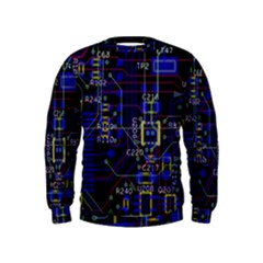 Technology Circuit Board Layout Kids  Sweatshirt