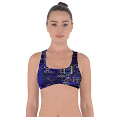 Technology Circuit Board Layout Got No Strings Sports Bra