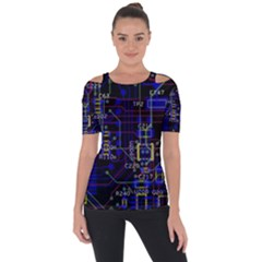 Technology Circuit Board Layout Short Sleeve Top