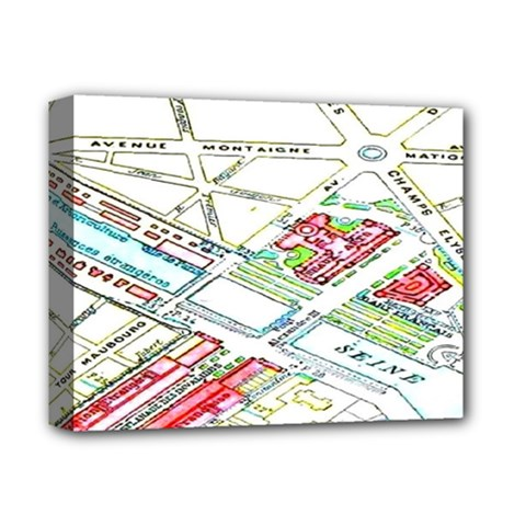 Paris Map Deluxe Canvas 14  X 11