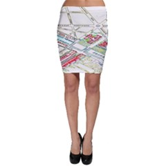 Paris Map Bodycon Skirt