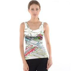 Paris Map Tank Top