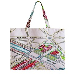 Paris Map Zipper Mini Tote Bag