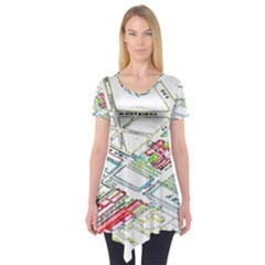 Paris Map Short Sleeve Tunic