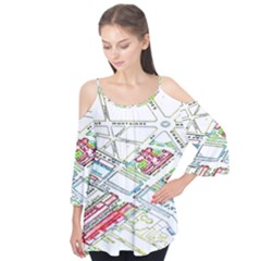 Paris Map Flutter Tees