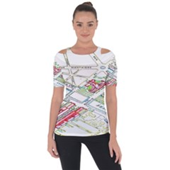 Paris Map Short Sleeve Top