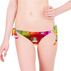 Colorful 3d Social Media Bikini Bottom