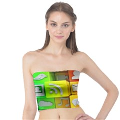 Colorful 3d Social Media Tube Top