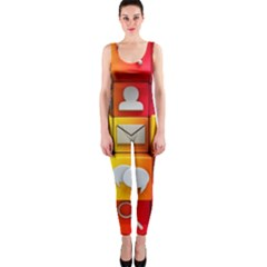 Colorful 3d Social Media Onepiece Catsuit by BangZart