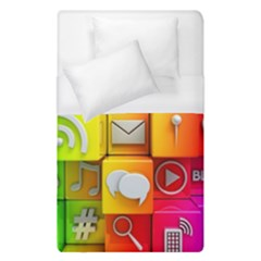 Colorful 3d Social Media Duvet Cover (single Size) by BangZart