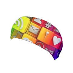 Colorful 3d Social Media Yoga Headband