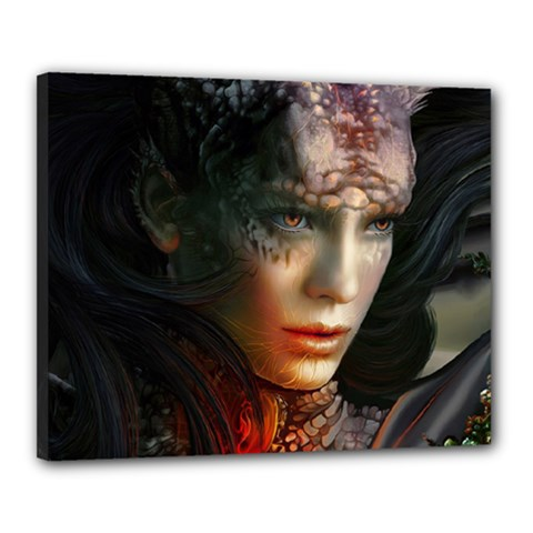 Digital Fantasy Girl Art Canvas 20  X 16