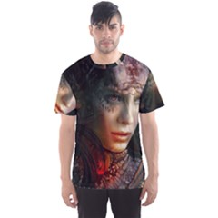 Digital Fantasy Girl Art Men s Sports Mesh Tee