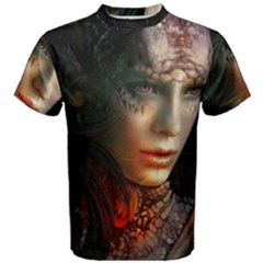 Digital Fantasy Girl Art Men s Cotton Tee