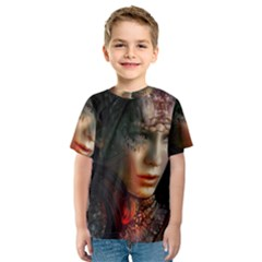 Digital Fantasy Girl Art Kids  Sport Mesh Tee