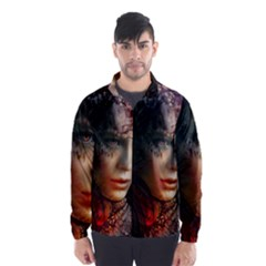 Digital Fantasy Girl Art Wind Breaker (men)