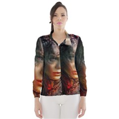 Digital Fantasy Girl Art Wind Breaker (women)