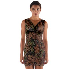 Digital Camouflage Wrap Front Bodycon Dress