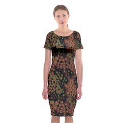 Digital Camouflage Classic Short Sleeve Midi Dress