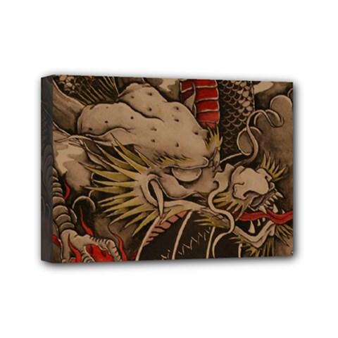 Chinese Dragon Mini Canvas 7  X 5