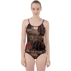 Chinese Dragon Cut Out Top Tankini Set