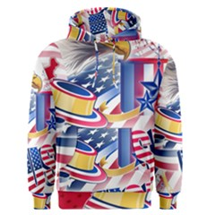 United States Of America Usa  Images Independence Day Men s Pullover Hoodie