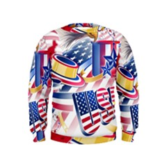 United States Of America Usa  Images Independence Day Kids  Sweatshirt