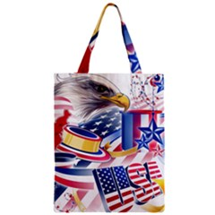 United States Of America Usa  Images Independence Day Zipper Classic Tote Bag