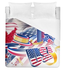 United States Of America Usa  Images Independence Day Duvet Cover (queen Size)