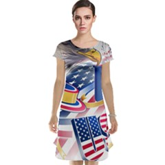 United States Of America Usa  Images Independence Day Cap Sleeve Nightdress