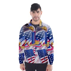 United States Of America Usa  Images Independence Day Wind Breaker (men)