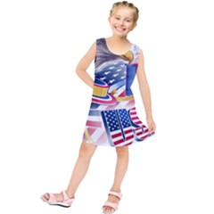 United States Of America Usa  Images Independence Day Kids  Tunic Dress