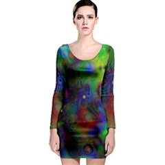 Full Colors Long Sleeve Bodycon Dress