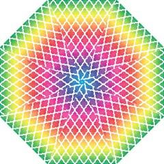 Colorful Rainbow Moroccan Pattern Folding Umbrellas