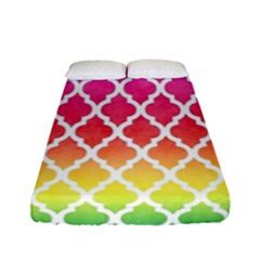 Colorful Rainbow Moroccan Pattern Fitted Sheet (full/ Double Size)
