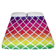 Colorful Rainbow Moroccan Pattern Fitted Sheet (california King Size)