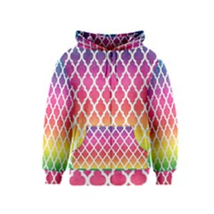 Colorful Rainbow Moroccan Pattern Kids  Zipper Hoodie