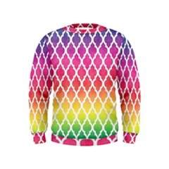 Colorful Rainbow Moroccan Pattern Kids  Sweatshirt