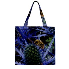 Chihuly Garden Bumble Zipper Grocery Tote Bag
