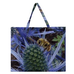 Chihuly Garden Bumble Zipper Large Tote Bag