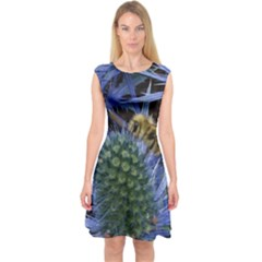 Chihuly Garden Bumble Capsleeve Midi Dress
