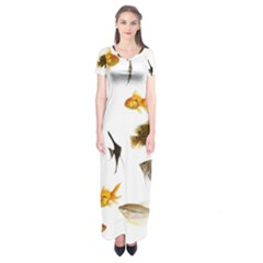 Goldfish Short Sleeve Maxi Dress