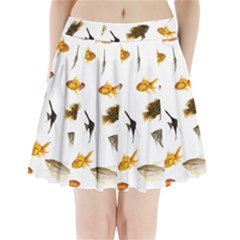 Goldfish Pleated Mini Skirt