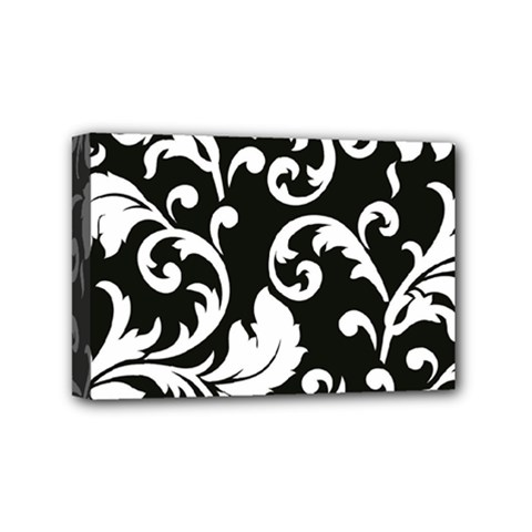 Vector Classicaltr Aditional Black And White Floral Patterns Mini Canvas 6  X 4