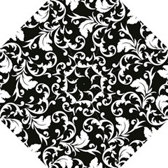 Vector Classicaltr Aditional Black And White Floral Patterns Folding Umbrellas