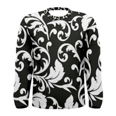 Vector Classicaltr Aditional Black And White Floral Patterns Men s Long Sleeve Tee