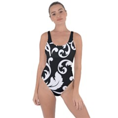 Vector Classicaltr Aditional Black And White Floral Patterns Bring Sexy Back Swimsuit