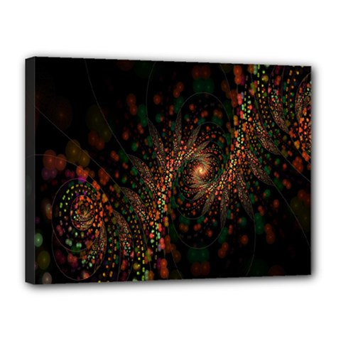 Multicolor Fractals Digital Art Design Canvas 16  X 12