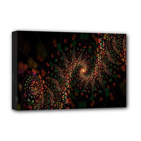 Multicolor Fractals Digital Art Design Deluxe Canvas 18  X 12