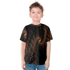 Multicolor Fractals Digital Art Design Kids  Cotton Tee